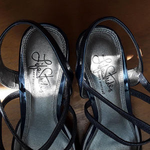 Life Stride Shoes - Navy Blue Gorgeous Strappy Heels
